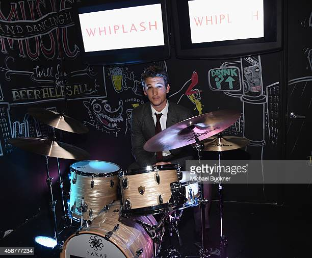 Actor Miles Teller attends the after party for Sony Pictures Classics' Whiplash at The Phoenix on October 6 2014 in Beverly Hills California