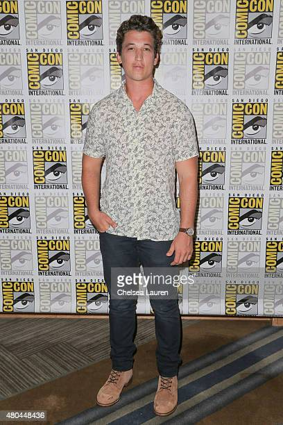 Actor Miles Teller attends the 'Fantastic Four' press room during ComicCon International on July 11 2015 in San Diego California