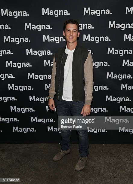 Actor Miles Teller attends the Magna Entertainment preview screening Bleed For This on November 7 2016 in New York City
