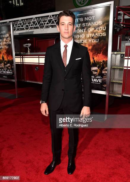 Actor Miles Teller attends the premiere of Columbia Pictures' Only The Brave at the Regency Village Theatre on October 8 2017 in Westwood California