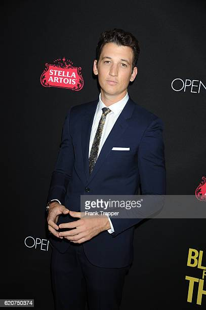 """Actor Miles Teller attends the premiere of Open Roads Films' """"Bleed for This"""" held at the Samuel Goldwyn Theater on November 2, 2016 in Beverly..."""