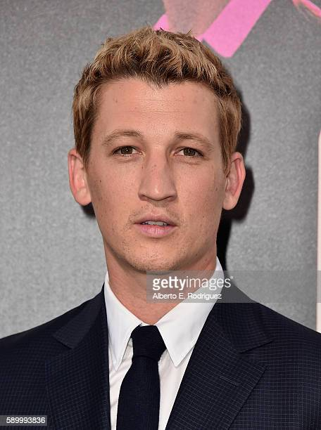 Actor Miles Teller attends the premiere of Warner Bros Pictures' 'War Dogs' at TCL Chinese Theatre on August 15 2016 in Hollywood California