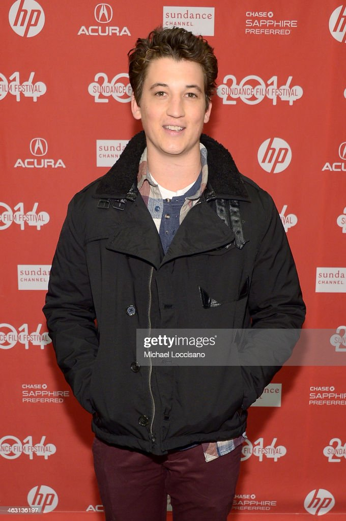 Actor Miles Teller attends the premiere of 'Whiplash' at the Eccles Center Theatre during the 2014 Sundance Film Festival on January 16, 2014 in Park City, Utah.