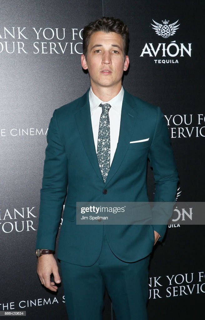 Actor Miles Teller attends the screening of DreamWorks and Universal Pictures' 'Thank You For Your Service' hosted by The Cinema Society and Avion at The Landmark at 57 West on October 25, 2017 in New York City.