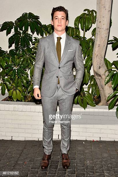 Actor Miles Teller attends the W Magazine celebration of the 'Best Performances' Portfolio and The Golden Globes with Cadillac and Dom Perignon at...