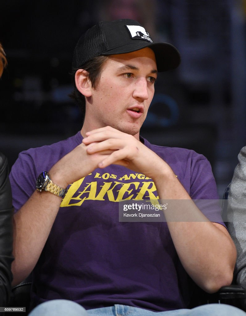 Actor Miles Teller attendS the Washington Wizards and Los Angeles Lakers basketball game at Staples Center March 28 2017, in Los Angeles, California.