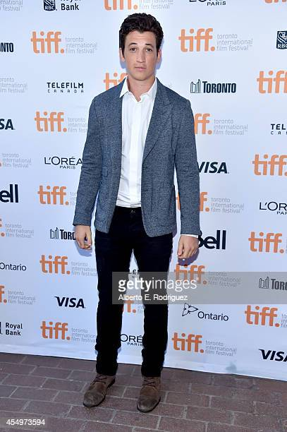 Actor Miles Teller attends the 'Whiplash' premiere during the 2014 Toronto International Film Festival at Ryerson Theatre on September 8 2014 in...