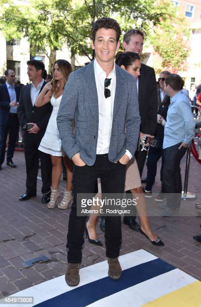 Actor Miles Teller attends the Whiplash premiere during the 2014 Toronto International Film Festival at Ryerson Theatre on September 8 2014 in...