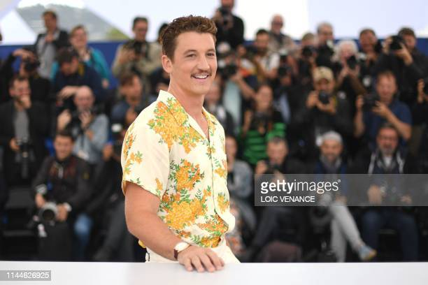 US actor Miles Teller poses during a photocall for the film Too Old To Die Young North of Hollywood West of Hell at the 72nd edition of the Cannes...