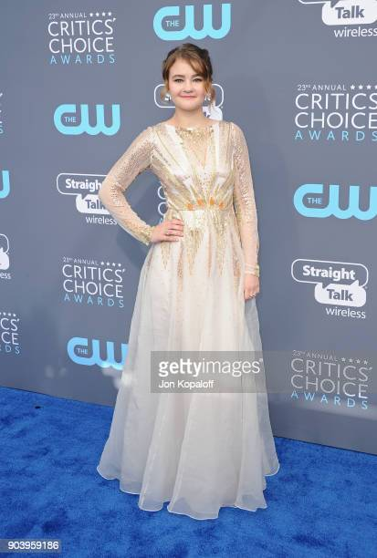 Actor Millicent Simmonds attends The 23rd Annual Critics' Choice Awards at Barker Hangar on January 11 2018 in Santa Monica California