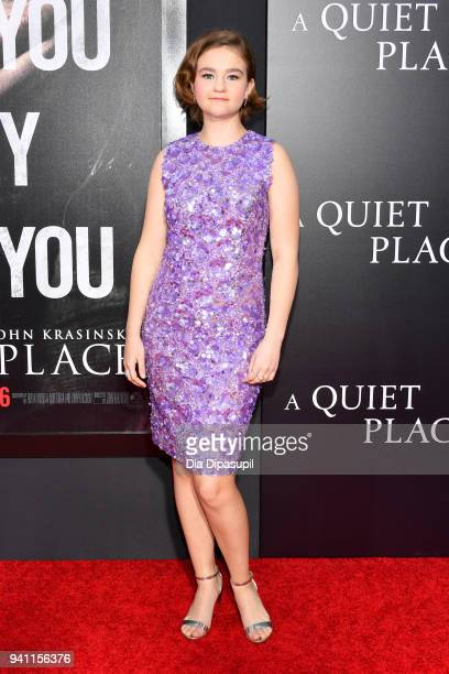 Actor Millicent Simmonds attends the A Quiet Place New York Premiere at AMC Lincoln Square Theater on April 2 2018 in New York City
