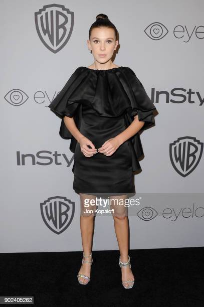 Actor Millie Bobby Brown attends the 19th Annual PostGolden Globes Party hosted by Warner Bros Pictures and InStyle at The Beverly Hilton Hotel on...