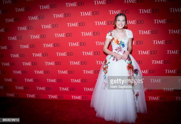 Actor Millie Bobby Brown attends the 2018 Time 100 Gala at Frederick P Rose Hall Jazz at Lincoln Center on April 24 2018 in New York City