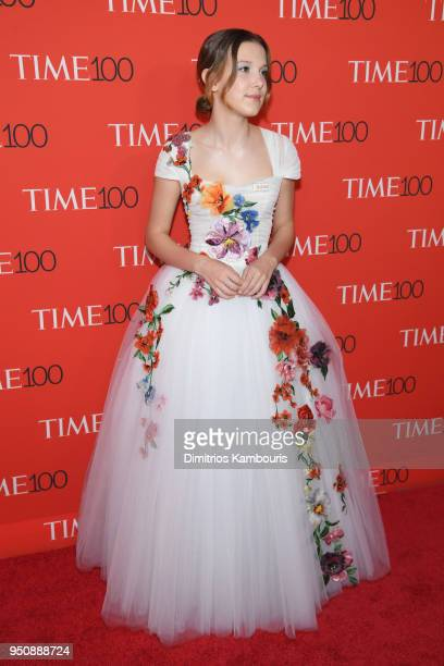 Actor Millie Bobby Brown attends the 2018 Time 100 Gala at Jazz at Lincoln Center on April 24 2018 in New York City