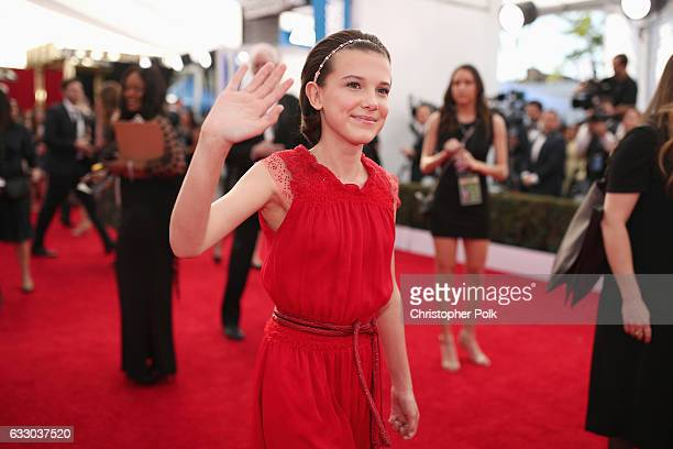 Actor Millie Bobby Brown attends The 23rd Annual Screen Actors Guild Awards at The Shrine Auditorium on January 29 2017 in Los Angeles California...