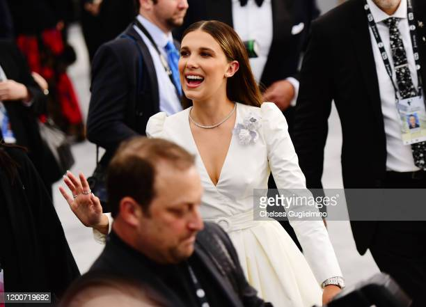 Actor Millie Bobby Brown attends the 26th annual Screen Actors Guild Awards at The Shrine Auditorium on January 19 2020 in Los Angeles California