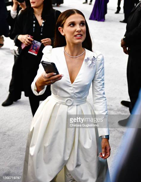 Actor Millie Bobby Brown attends the 26th annual Screen ActorsGuild Awards at The Shrine Auditorium on January 19, 2020 in Los Angeles, California.