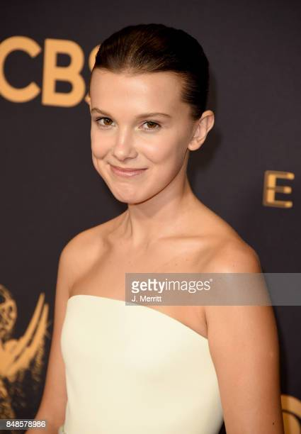 Actor Millie Bobby Brown attends the 69th Annual Primetime Emmy Awards at Microsoft Theater on September 17 2017 in Los Angeles California