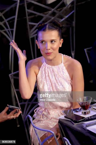 Actor Millie Bobby Brown during the 24th Annual Screen Actors Guild Awards at The Shrine Auditorium on January 21 2018 in Los Angeles California...