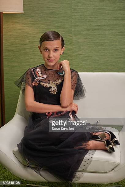Actor Millie Bobby Brown is photographed for Emmy magazine on September 18 2016 in Los Angeles California