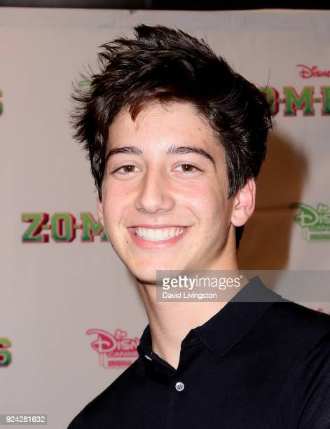 Actor Milo Manheim attends a soundtrack signing for Disney Channel's Zombies at Barnes Noble at The Grove on February 25 2018 in Los Angeles...