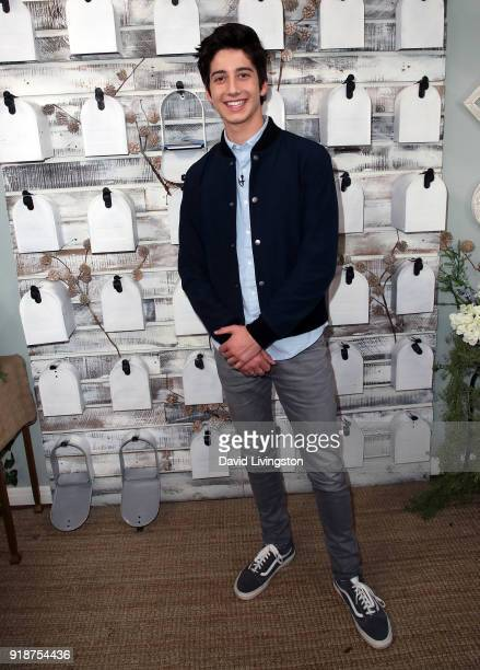 Actor Milo Manheim visits Hallmark's Home Family at Universal Studios Hollywood on February 15 2018 in Universal City California