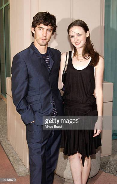 Actor Milo Ventimiglia and actress Alexis Bledel attend a behind the scenes discussion of the television show 'Gilmore Girls' at the Academy of...