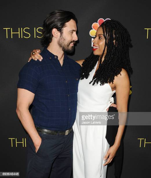 Actor Milo Ventimiglia and actress Susan Kelechi Watson attend the 'This Is Us' FYC screening and panel at The Cinerama Dome on June 7 2017 in Los...