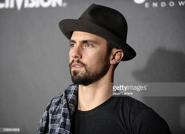 """Actor Milo Ventimiglia attends Activision's """"Call of Duty Black Ops"""" launch party at Barker Hangar on November 4, 2010 in Santa Monica, California."""