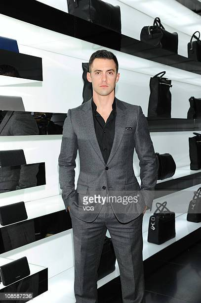 Actor Milo Ventimiglia attends Dior flagship store opening ceremony on January 28 2011 in Hong Kong China