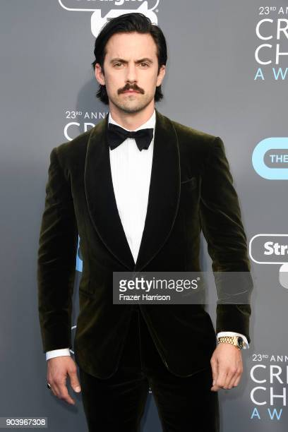 Actor Milo Ventimiglia attends The 23rd Annual Critics' Choice Awards at Barker Hangar on January 11 2018 in Santa Monica California