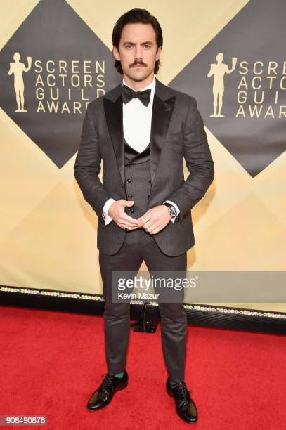 Actor Milo Ventimiglia attends the 24th Annual Screen Actors Guild Awards at The Shrine Auditorium on January 21 2018 in Los Angeles California...