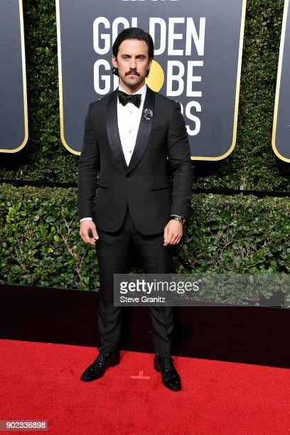 Actor Milo Ventimiglia attends The 75th Annual Golden Globe Awards at The Beverly Hilton Hotel on January 7 2018 in Beverly Hills California