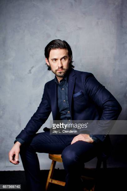 Actor Milo Ventimiglia from NBC's 'This is Us' is photographed at Paley Fest for Los Angeles Times on March 18 2017 in Los Angeles California...