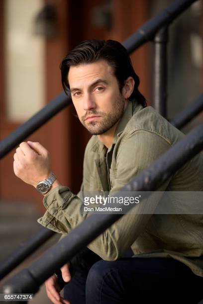 Actor Milo Ventimiglia is photographed for USA Today on March 8 2017 on the 20th Century Fox movie lot in Los Angeles California