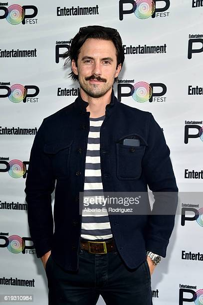 Actor Milo Ventimiglia poses backstage during Entertainment Weekly's PopFest at The Reef on October 30 2016 in Los Angeles California