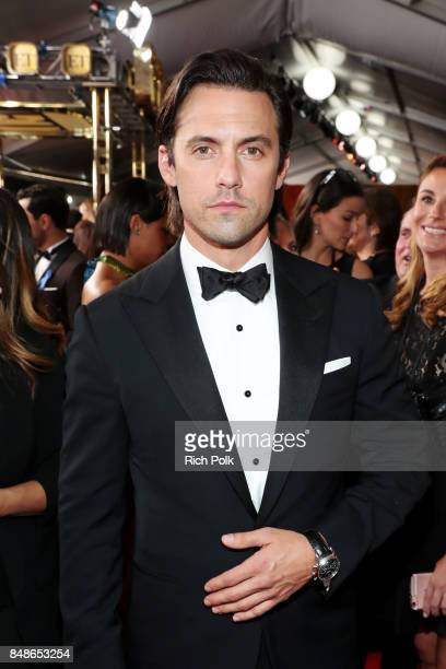 Actor Milo Ventimiglia walks the red carpet during the 69th Annual Primetime Emmy Awards at Microsoft Theater on September 17 2017 in Los Angeles...