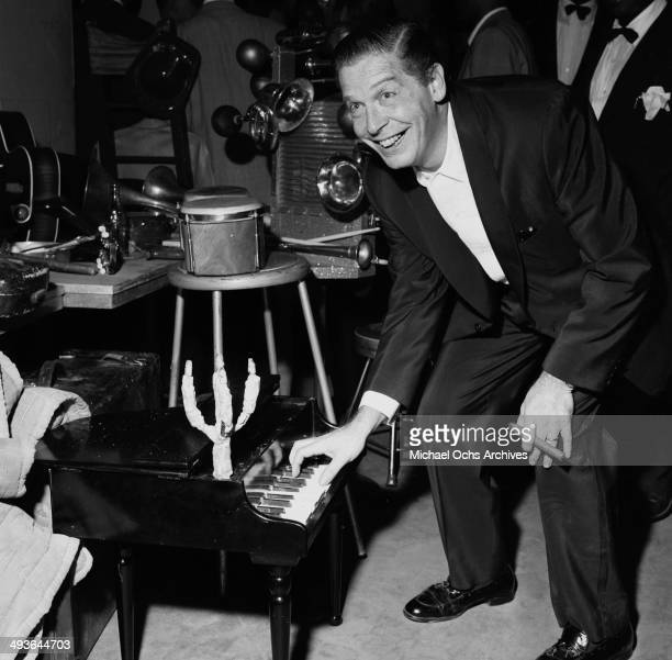 Actor Milton Berle at the Hollywood Bowl in Los Angeles, California.