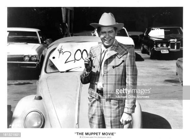"""Actor Milton Berle on set of """"The Muppet Movie"""" in 1979."""