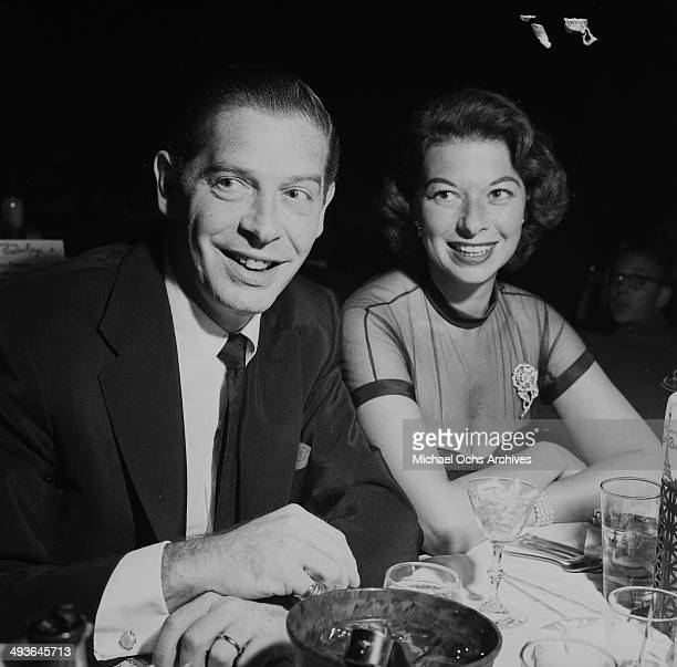 Actor Milton Berle with wife Ruth attends NBC: Milton Berle party in Los Angeles, California.