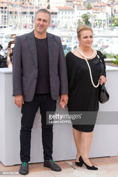 Actor Mimi Branescu and actress Dana Dogaru attend the 'Sieranevada' photocall during the 69th annual Cannes Film Festival at the Palais des...