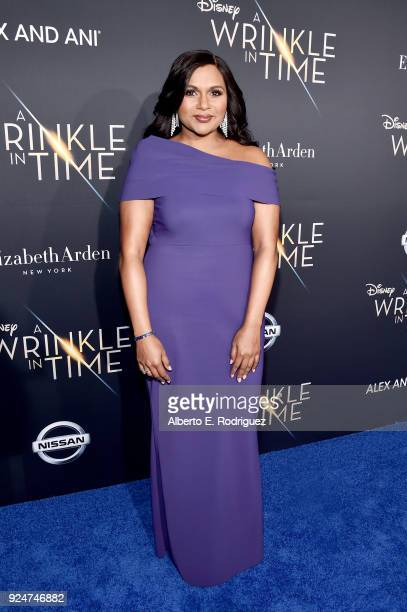Actor Mindy Kaling arrives at the world premiere of Disney's 'A Wrinkle in Time' at the El Capitan Theatre in Hollywood CA Feburary 26 2018