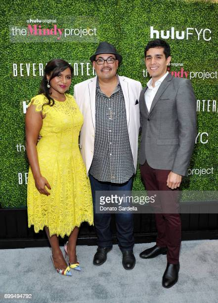 Actor Mindy Kaling Costume designer Salvador Perez and moderator Patrick Gomez entertain Beverly Center shoppers with a special discussion on the...
