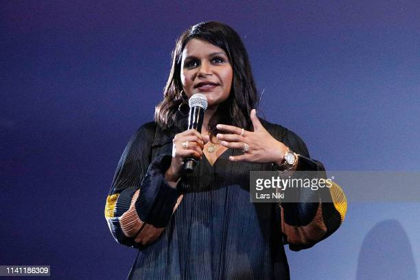 Actor Mindy Kaling on stage during the 2019 Montclair Film Festival at the Wellmont Theater on May 4 2019 in Montclair New Jersey