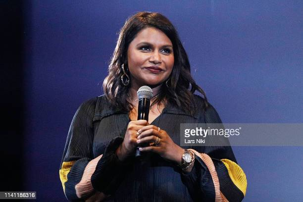 Actor Mindy Kaling on stage during the 2019 Montclair Film Festival at the Wellmont Theater on May 4, 2019 in Montclair, New Jersey.