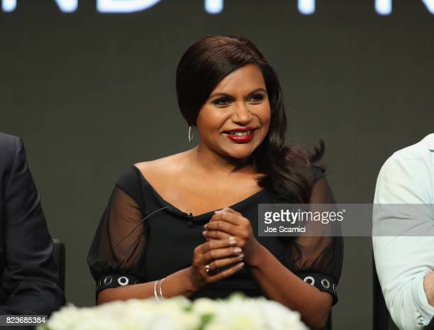 Actor Mindy Kaling speaks onstage during Summer TCA at The Beverly Hilton Hotel on July 27 2017 in Beverly Hills California
