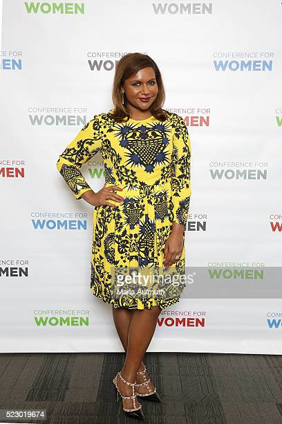 Actor Mindy Kaling stands for a photo at the Watermark Conference For Women 2016 Silicon Valley at the San Jose Convention Center on April 21 2016 in...