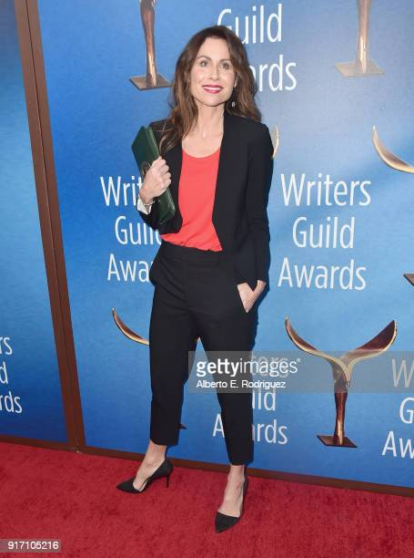 Actor Minnie Driver attends the 2018 Writers Guild Awards LA Ceremony at The Beverly Hilton Hotel on February 11 2018 in Beverly Hills California
