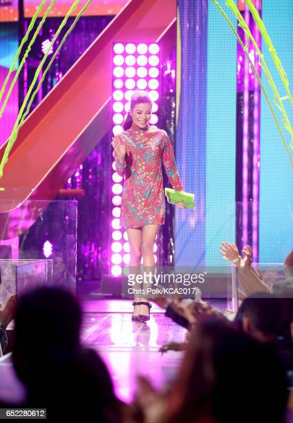 Actor Miranda Cosgrove appears onstage at Nickelodeon's 2017 Kids' Choice Awards at USC Galen Center on March 11 2017 in Los Angeles California