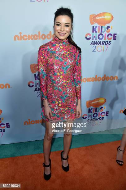 Actor Miranda Cosgrove at Nickelodeon's 2017 Kids' Choice Awards at USC Galen Center on March 11 2017 in Los Angeles California